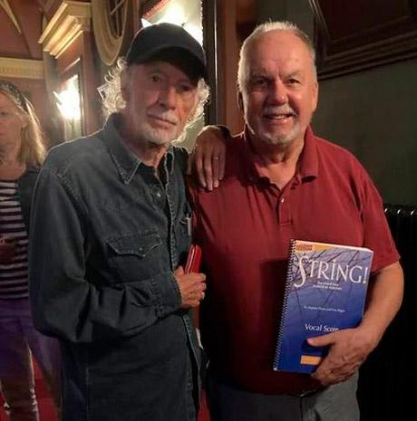 Stephen with Roger McGough